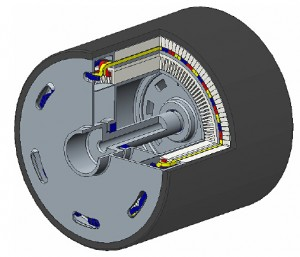 Figure 10: Baseline motor configuration with two bearings on the drive end
