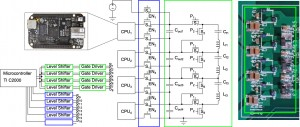 Figure 1: Prototype SC converter to balance stack of 4 ARM embedded computers