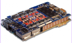 Figure 1: Photograph of the flying-capacitor multilevel converter inverter board and energy buffer fit together