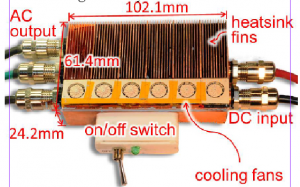 Figure 2:Photograph of the inverter prototype inside the heat-sink and enclosure