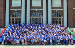 4Hgroup in front of Follinger Hall - Knowledge is Majic pic