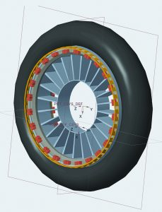 Leslie Cheng electric motocycle wheel