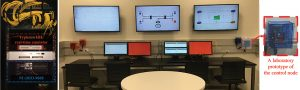 control system for studying adding microgrids to the main grid