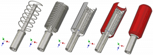 cooling system CAD model for fully superconducting machine