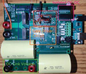Half-bridge converter with integrated sensing circuit